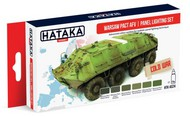 Hataka Hobby  Hataka Red Line (Airbrush-Dedicated) Red Line (Airbrush-Dedicated): Warsaw Pact AFV Panel Lighting Paint Set (6 Colors) 17ml Bottles HTKAS24