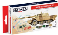Hataka Hobby  Hataka Red Line (Airbrush-Dedicated) Red Line (Airbrush-Dedicated): Modern French Army Vehicles 1950s-Present Paint Set (6 Colors) 17ml Bottles HTKAS25