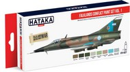 Hataka Hobby  Hataka Red Line (Airbrush-Dedicated) Red Line (Airbrush-Dedicated): Falklands Conflict Argentinean AF Vol.1 Paint Set (8 Colors) 17ml Bottles HTKAS27