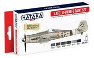Hataka Hobby  Hataka Red Line (Airbrush-Dedicated) Red Line (Airbrush-Dedicated): Late Luftwaffe 1944-45 Camouflage Paint Set (6 Colors) 17ml Bottles HTKAS3