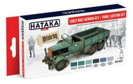 Hataka Hobby  Hataka Red Line (Airbrush-Dedicated) Red Line (Airbrush-Dedicated): Early WWII German AFV Panel Lighting Paint Set (6 Colors) 17ml Bottles HTKAS31