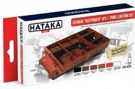 Hataka Hobby  Hataka Red Line (Airbrush-Dedicated) Red Line (Airbrush-Dedicated): German Red Primer AFV Panel Lighting Paint Set (6 Colors) 17ml Bottles HTKAS35
