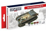 Hataka Hobby  Hataka Red Line (Airbrush-Dedicated) Red Line (Airbrush-Dedicated): WWII AFV Interior Colors Paint Set (6 Colors) 17ml Bottles HTKAS37
