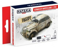 Hataka Hobby  Hataka Red Line (Airbrush-Dedicated) Red Line (Airbrush-Dedicated): German AFC Winter Camouflage Effects 2 in 1 Paint Set (4 Colors) 17ml Bottles HTKAS38