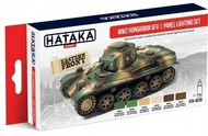 Hataka Hobby  Hataka Red Line (Airbrush-Dedicated) Red Line (Airbrush-Dedicated): WWII Hungarian AFV Panel Lighting Paint Set (6 Colors) 17ml Bottles HTKAS39
