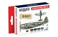 Hataka Hobby  Hataka Red Line (Airbrush-Dedicated) Red Line (Airbrush-Dedicated): USAAF 1939-45 Camouflage Paint Set (4 Colors) 17ml Bottles HTKAS4
