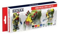 Hataka Hobby  Hataka Red Line Red Line (Airbrush-Dedicated): Combat Mechas & Robots Sci-Fi Camouflage Paint Set (8 Colors) 17ml Bottles HTKAS41