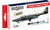 Hataka Hobby  Hataka Red Line Red Line (Airbrush-Dedicated): Polish Navy AF TS11 Camouflage Paint Set (6 Colors) 17ml Bottles HTKAS46