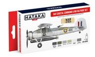 Hataka Hobby  Hataka Red Line Red Line (Airbrush-Dedicated): RAF Coastal Command & RN FAA Paint Set (6 Colors) 17ml Bottles HTKAS49