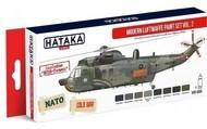 Hataka Hobby  Hataka Red Line Red Line (Airbrush-Dedicated): Modern Luftwaffe 1980s-90s Vol.2 Paint Set (8 Colors) 17ml Bottles HTKAS55