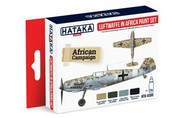Hataka Hobby  Hataka Red Line Red Line (Airbrush-Dedicated): Luftwaffe in Africa Camouflage Paint Set (4 Colors) 17ml Bottles HTKAS6