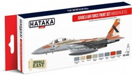 Hataka Hobby  Hataka Red Line Red Line (Airbrush-Dedicated): Israeli AF Modern Jets Since Late 1970s Paint Set (8 Colors) 17ml Bottles HTKAS62