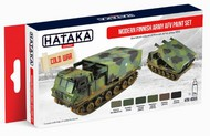 Hataka Hobby  Hataka Red Line Red Line (Airbrush-Dedicated): Modern Finnish Army AFV Since 1959 Paint Set (6 Colors) 17ml Bottles HTKAS65