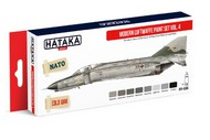Hataka Hobby  Hataka Red Line Red Line (Airbrush-Dedicated): Modern Luftwaffe 1980s- Mid 1990s Vol.4 Paint Set (8 Colors) 17ml Bottles HTKAS66