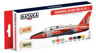 Hataka Hobby  Hataka Red Line Red Line (Airbrush-Dedicated): Modern RAF Since 1950s Vol.3 Paint Set (8 Colors) 17ml Bottles HTKAS70