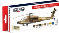 Hataka Hobby  Hataka Red Line Red Line (Airbrush-Dedicated): Israeli AF Helicopter Modern Rotors Since Late 1970s Paint Set (8 Colors) 17ml Bottles HTKAS71