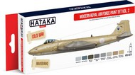 Hataka Hobby  Hataka Red Line Red Line (Airbrush-Dedicated): Modern RAF 1950s-90s Vol.2 Paint Set (8 Colors) 17ml Bottles HTKAS73