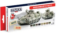 Hataka Hobby  Hataka Red Line Red Line (Airbrush-Dedicated): Modern German Army AFV Since 1955 Paint Set (8 Colors) 17ml Bottles HTKAS81