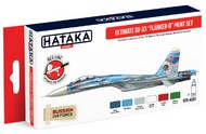 Hataka Hobby  Hataka Red Line Red Line (Airbrush-Dedicated): Ultimate Su33 Flanker-D Russian Naval Aviation Service Paint Set (6 Colors) 17ml Bottles HTKAS83