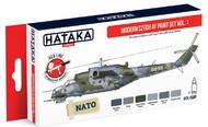Hataka Hobby  Hataka Red Line Red Line (Airbrush-Dedicated) Modern Czech AF Since 1990s Vol.1 (6 Colors) HTKAS89