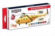 Hataka Hobby  Hataka Red Line British SAR Service paint set vol. 1 x 8 acrylic paints for airbrushing HTKAS98