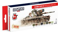 Hataka Hobby  Hataka Red Line Red Line (Airbrush-Dedicated): US Army Europe Vehicles 1970s-80s Paint Set (8 Colors) 17ml Bottles HTKAS99