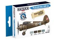 Hataka Hobby  Hataka Blue Line (Brush-Dedicated) Blue Line (Brush-Dedicated): Polish AF 1919-39 Camouflage Paint Set (4 Colors) 17ml Bottles HTKBS1