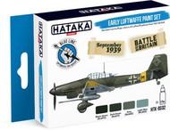 Hataka Hobby  Hataka Blue Line Blue Line (Brush-Dedicated): Early Luftwaffe 1937-40 Camouflage Paint Set (4 Colors) 17ml Bottles HTKBS2