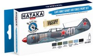 Hataka Hobby  Hataka Blue Line (Brush-Dedicated) Blue Line (Brush-Dedicated): Late WWII Soviet AF Paint Set (6 Colors) 17ml Bottles HTKBS20
