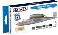 Hataka Hobby  Hataka Blue Line (Brush-Dedicated) Blue Line (Brush-Dedicated): Late Luftwaffe Planes 1944-45 Paint Set (6 Colors) 17ml Bottles HTKBS3