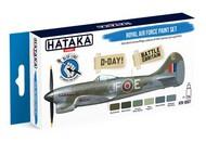 Hataka Hobby  Hataka Blue Line (Brush-Dedicated) Blue Line (Brush-Dedicated): RAF D-Day Battle of Britain Camouflage Paint Set (6 Colors) 17ml Bottles HTKBS7