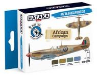 Hataka Hobby  Hataka Blue Line (Brush-Dedicated) Blue Line (Brush-Dedicated): RAF in Africa Camouflage Paint Set (4 Colors) 17ml Bottles HTKBS8