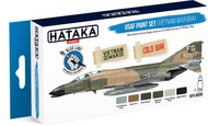 Hataka Hobby  Hataka Blue Line (Brush-Dedicated) Blue Line (Brush-Dedicated): USAF Vietnam War Era 1960s-70s Camouflage Paint Set (6 Colors) 17ml Bottles HTKBS9