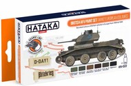 Hataka Hobby  Hataka Orange Line Set WW2 British AFV European Colors HTKCS022
