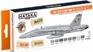 Hataka Hobby  Hataka Orange Line Set USAF, USN & USMC Modern Greys HTKCS044
