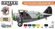 Hataka Hobby  Hataka Orange Line Set Early USN & USMC Section Colors HTKCS054