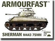 Hat Industries  1/72 Armourfast: Sherman M4A3 Tank w/75mm Gun HTI99014