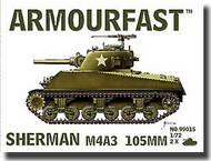 Hat Industries  1/72 Armourfast: Sherman M4A3 Tank w/105mm Gun HTI99015