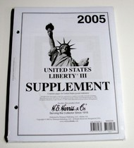 H.E. HARRIS   N/A 2005 US Liberty III Stamp Album Supplement (D)<!-- _Disc_ --> HEH22235