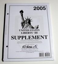 H.E. HARRIS   N/A 2005 US Liberty III Stamp Album Supplement (D)<!-- _Disc_ --> HEH22235