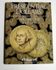 H.E. HARRIS   N/A Presidential Dollars Philadelphia & Denver Mint Collection Vol.1 2007-11 Coin Folder HEH2277
