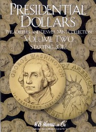 H.E. HARRIS   N/A Presidential Dollars Philadelphia & Denver Mint Collection Vol.2 2012-16 Coin Folder HEH2278