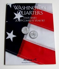 H.E. HARRIS   N/A 2009 Complete Year Washington State Quarters Coin Folder (D)<!-- _Disc_ --> HEH2384