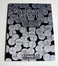 H.E. HARRIS   N/A Vol.2, 2004 thru 2008 Washington State Quarters Coin Folder HEH2581