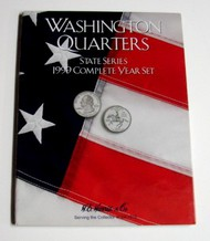 H.E. HARRIS   N/A 1999 Complete Year Washington State Quarters Coin Folder (D)<!-- _Disc_ --> HEH2582