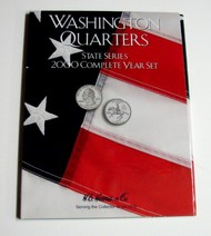 H.E. HARRIS   N/A 2000 Complete Year Washington State Quarters Coin Folder (D)<!-- _Disc_ --> HEH2583