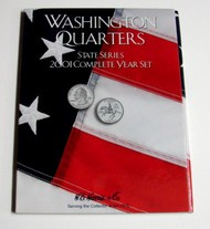 H.E. HARRIS   N/A 2001 Complete Year Washington State Quarters Coin Folder (D)<!-- _Disc_ --> HEH2584