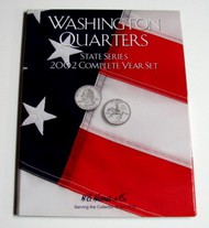 H.E. HARRIS   N/A 2002 Complete Year Washington State Quarters Coin Folder (D)<!-- _Disc_ --> HEH2585