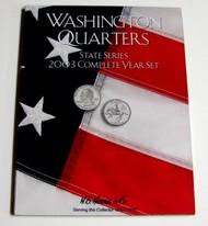 H.E. HARRIS   N/A 2003 Complete Year Washington State Quarters Coin Folder (D)<!-- _Disc_ --> HEH2586