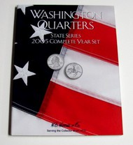 H.E. HARRIS   N/A 2005 Complete Year Washington State Quarters Coin Folder (D)<!-- _Disc_ --> HEH2588